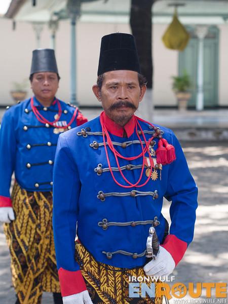 Surakarta Kraton palace guards