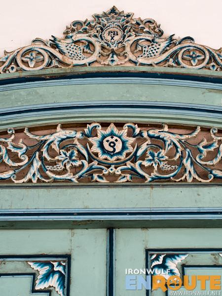 Javanese design on the door