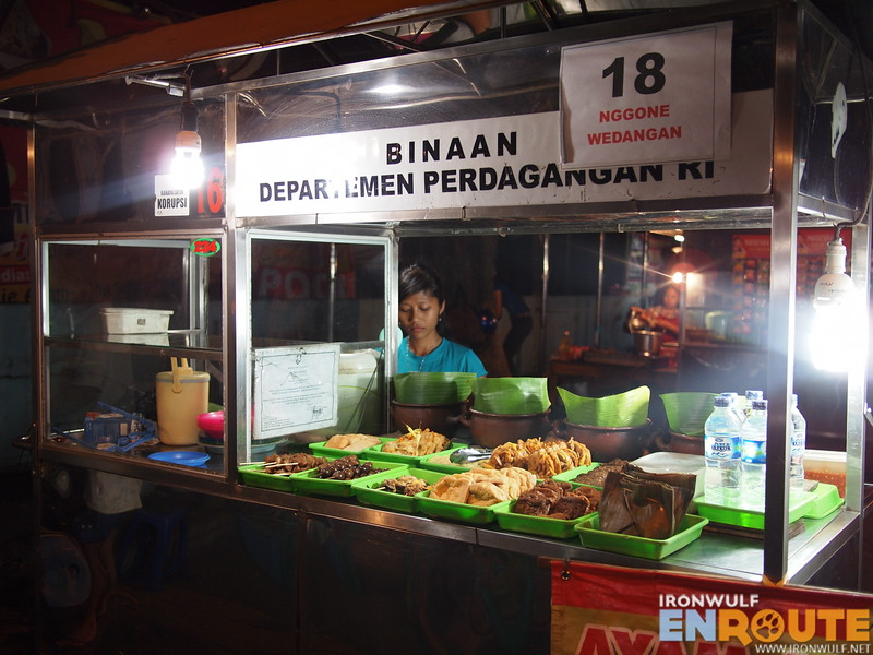 One of the stalls at the Culinary Night Market