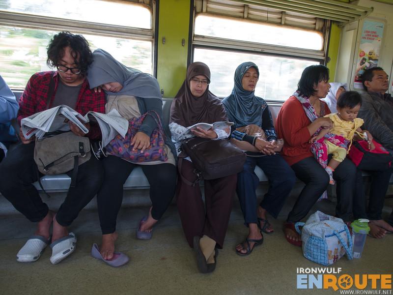 Passengers in the Prameks Train to Solo