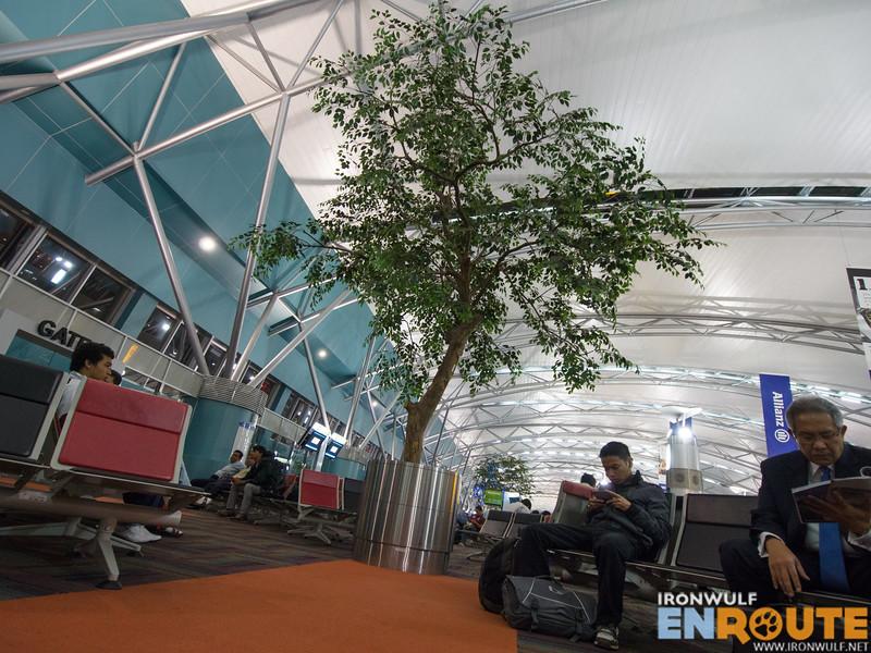 The Jakarta Airport terminal 3 waiting area