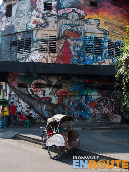 Street graffiti adding a splash of color in Solo