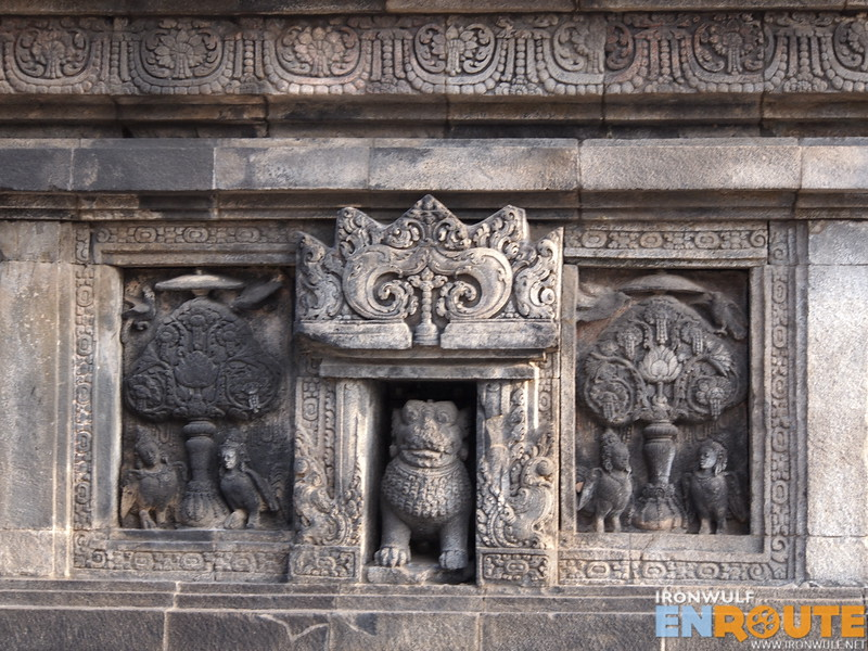 Some of the bas reliefs at the temples