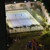 Community Tennis court at night