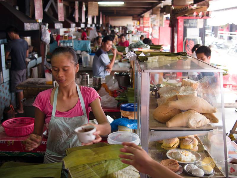 The rows of Painitan at the Dumaguete Public Market