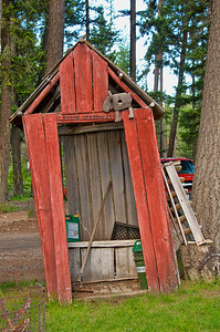 Outhouse at Bonaparte Lake Resort
