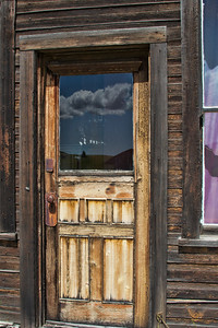 An old door in Molson, Washington