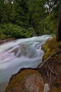 White River Falls above Lake Wenatchee