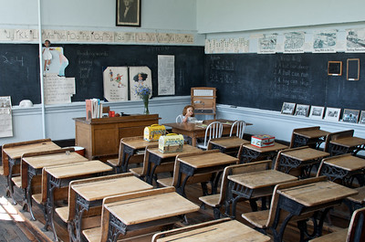Class Room in the old school building museum in Molson, WA.