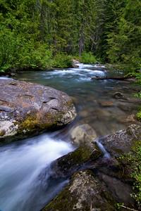 White River Falls above Lake Wenatchee in Eastern Washington