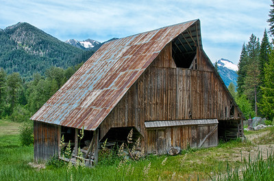 Barn near Lake Wenatchee, Washington