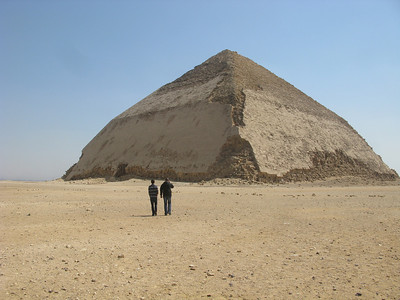 Eric and Mohammed at the Bent Pyramid