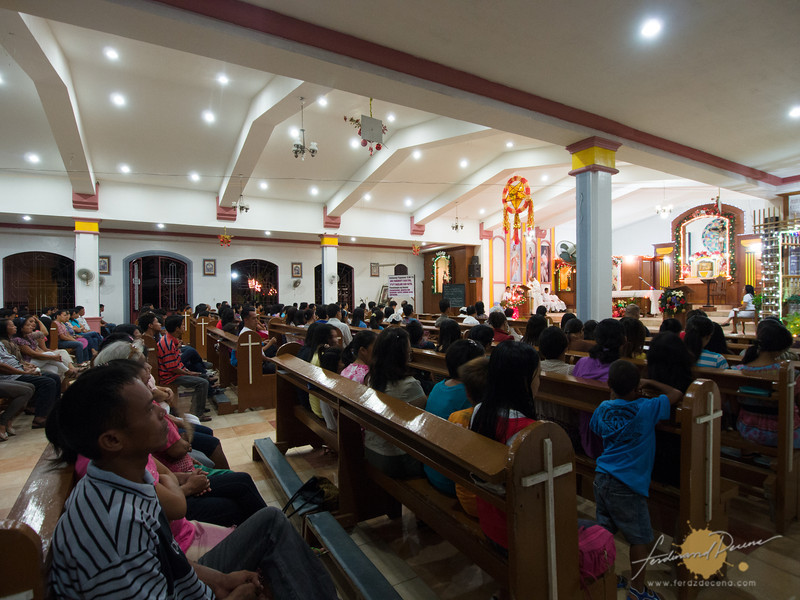 Inside the parish with numerous attendees