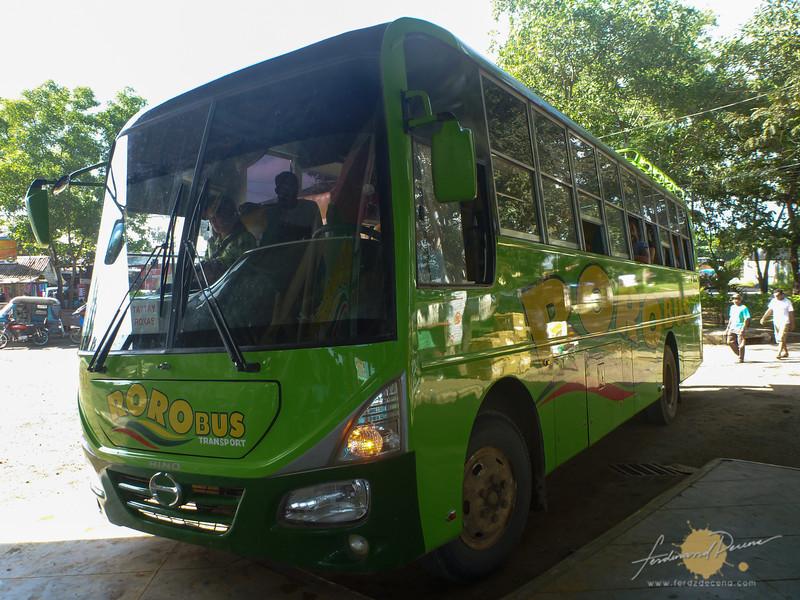 The non-aircon Roro Bus to El Nido