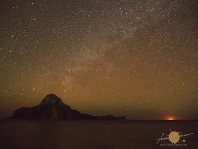 Galaxy over Cadlao Island