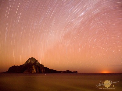 Star Trails over Cadlao Island