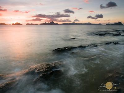 Sunset at Silaga, Corong Corong