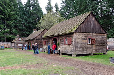 Some of the Buildings at Fort Nisqually