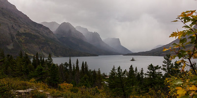 The standard postcard view of Wild Goose Island, as the evening rainstorms roll through.