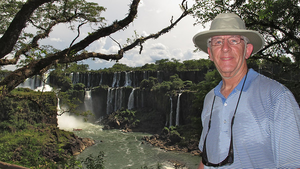 Chris in front of Iguazu Falls