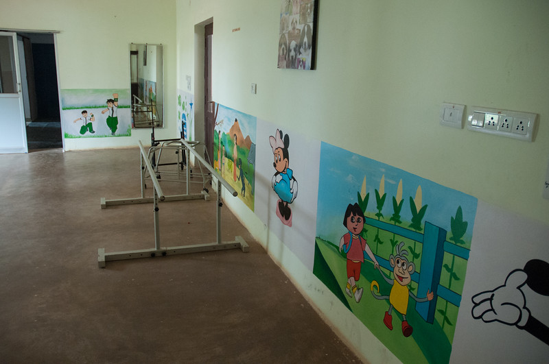 LiveWell is a residential rehabilitation center; this room is used for children's outpatient after-school therapy sessions.
