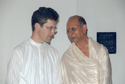 I have a few moments to chat with Rima's father during his 75th birthday celebration in Bangalore.