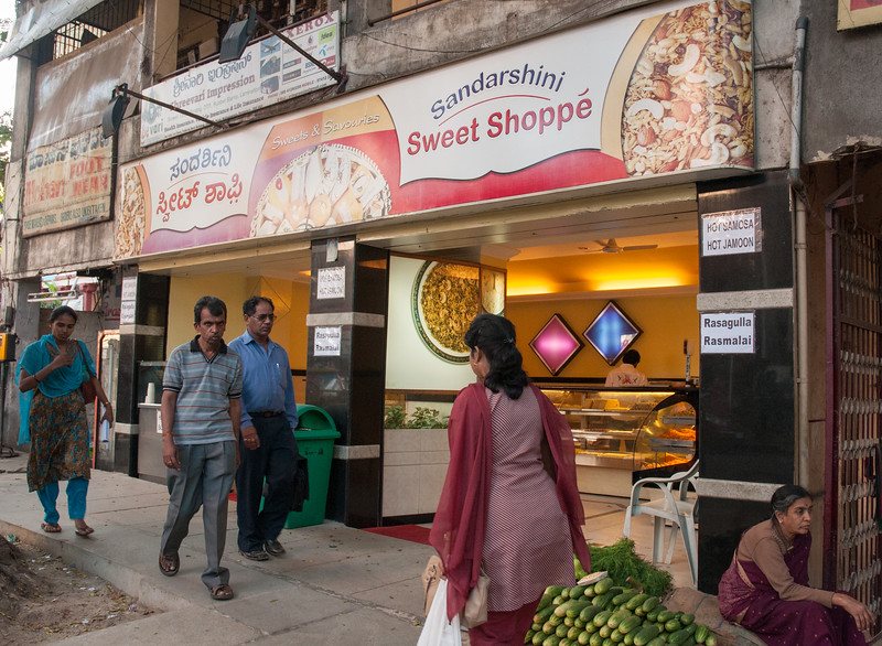 Sandarshini Sweet Shoppe, on Sampige Road, is a great place for sweets.