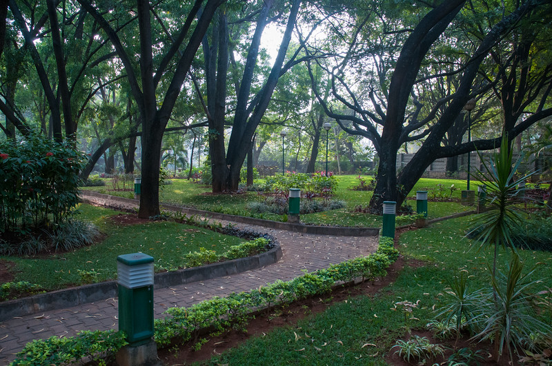 Gardens near the IISc entrance.