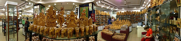 Cauvery crafts emporium (MG Road & Brigade Rd). There are thousands of carvings!