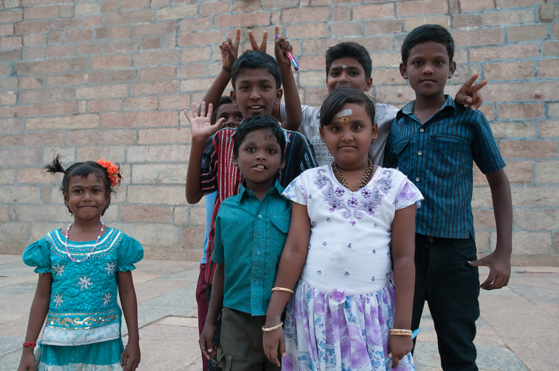 We have no pens but the children are happy to let me snap their photo.