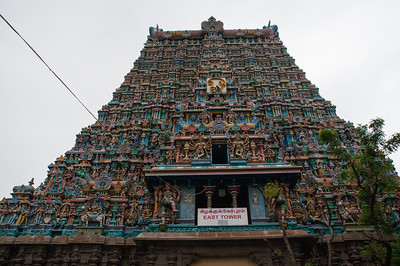The Meenakshi temple is the centerpiece of the city of Madurai, and has been for at least 400 years. The east tower is only one of ten such towers.