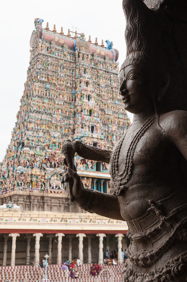 Shiva, with a view of the north tower.