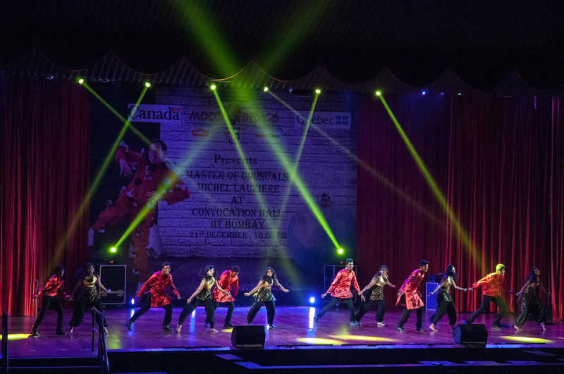 At IIT Bombay, a contestant in the Bollywood Dance competition.