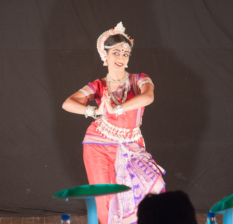 At IIT Bombay, a contestant in the Indian Classical Dance competition.
