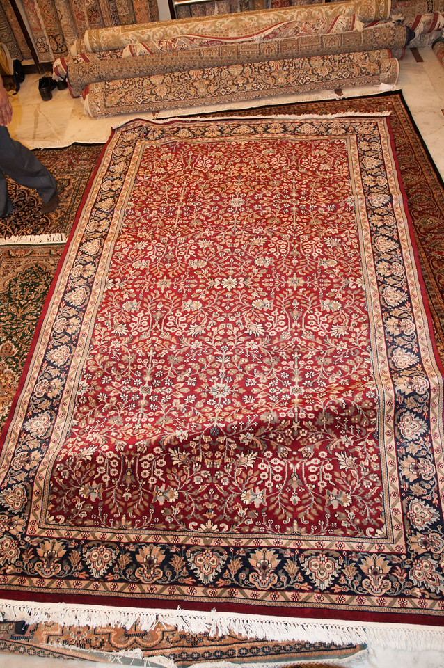 We bought a new Kashmiri carpet for our house.