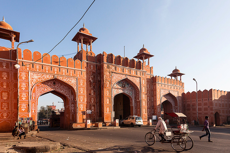Ajmeri Gate - entrance into the Pink City. Jaipur.