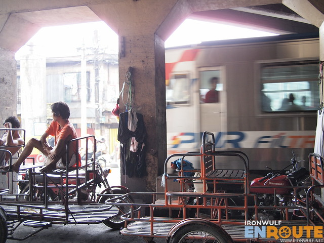 Some of the people living here work as a pedicab or kuliglig drivers