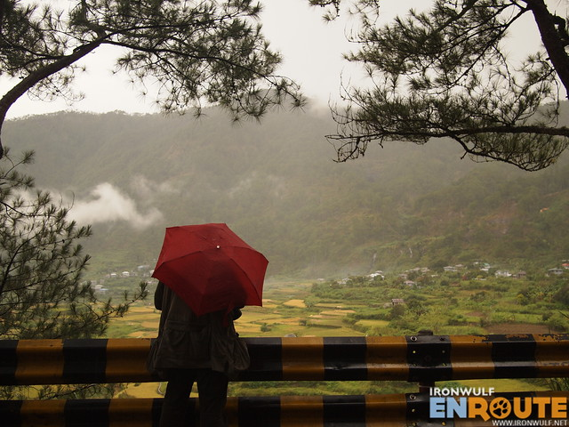 Bob and his red umbrella at Kapay-aw Terraces