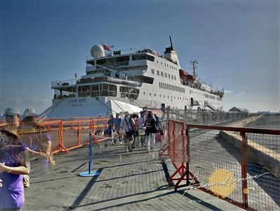 MV Logos Hope in Manila Pier 15