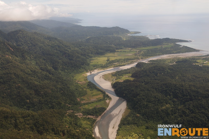 Typhoon Juan even changed how this Blos River flows