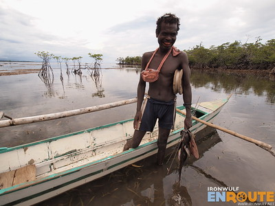 A Dumagat Fisherman at Dicatian Mangrove Forest