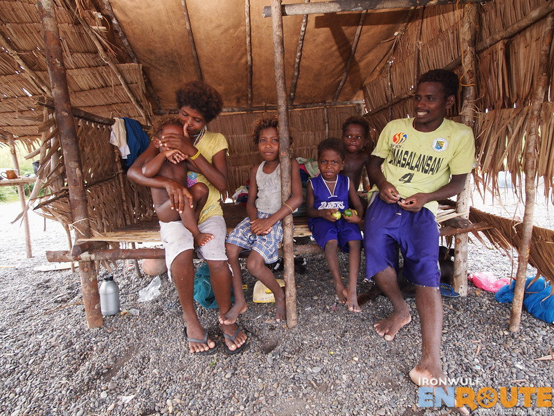 A Dumagat family in their Lean-to