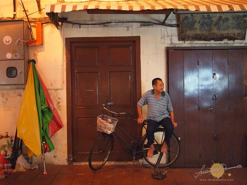 An old shophouse closed for the night