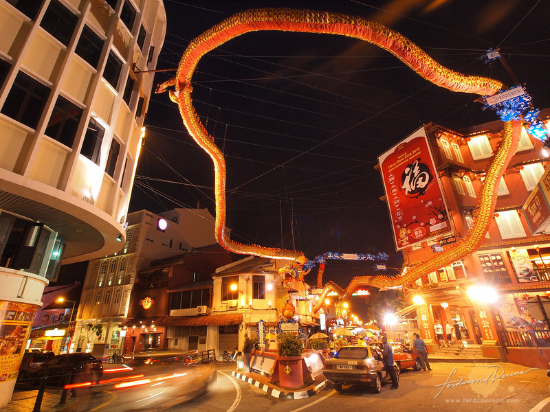 The Malacca dragon at the southern end of Jonker Street