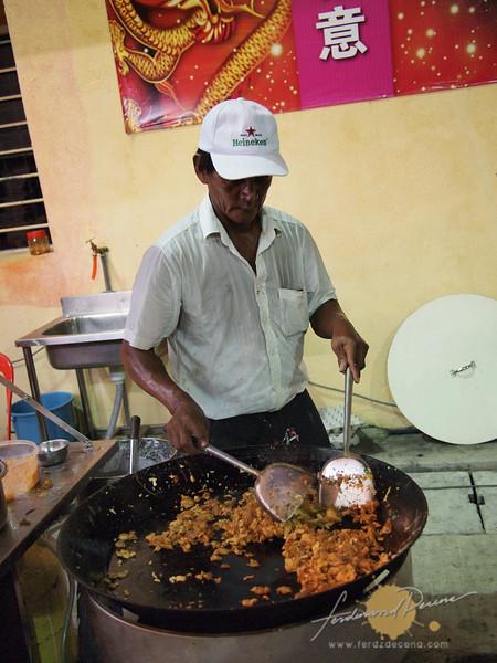 Preparing the Nasi Goreng