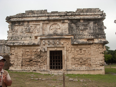 The Nunnery, Chichen Itza, with Juan, 1000 AD