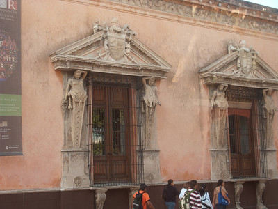 Merida - Caryatids of Mayan women and men