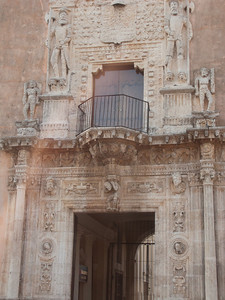 Casa de Montejo, 1549, note the upper figures and the heads they are standing on!