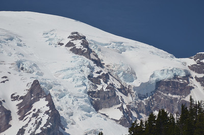Close of the glaciers of Mt Rainer.