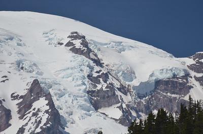 Close of the glaciers of Mt Rainer.